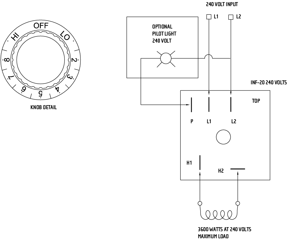INF Input Regulator Sample Wiring Diagram