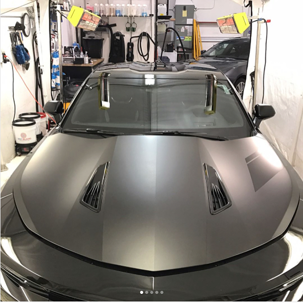 Details done right: sleek Chevrolet Camaro SS curing with our SRU-1615 medium wave system heaters.