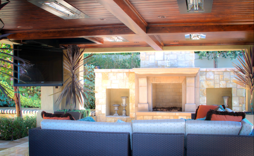 Outdoor area with flush mounted WD-Series heaters. Photo via Urban Landscape.