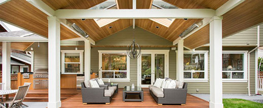 W-Series traditional wood patio