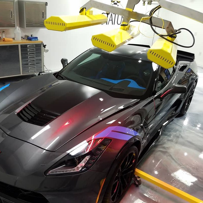 Corvette cured to perfection from all angles with our versatile SR-6000 short wave system.