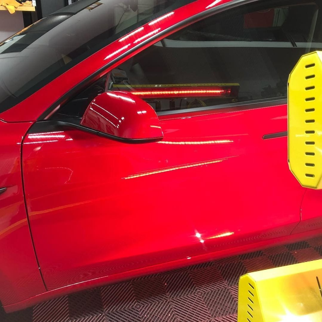 Our Model SR-6000 short wave system helps cure this Tesla to perfection.