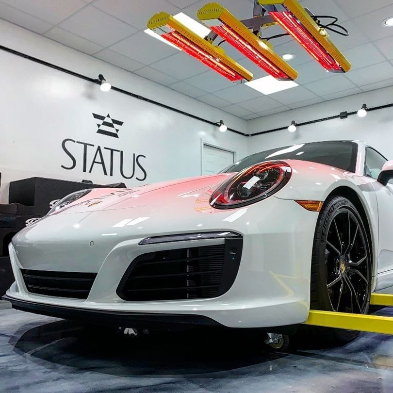 A car as luxurious as this Porsche 911 deserves the finest paint protection and our short wave Model SR-6000 does the job with ease.