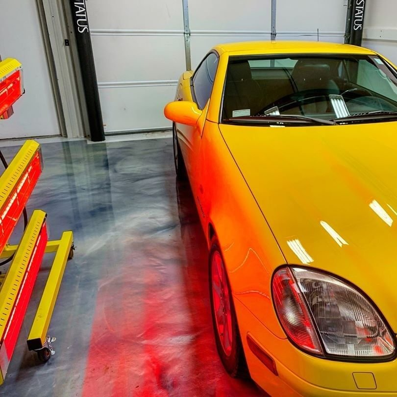 Our Model SR-6000 short wave system prepped this Mercedes SLK to shine year round.