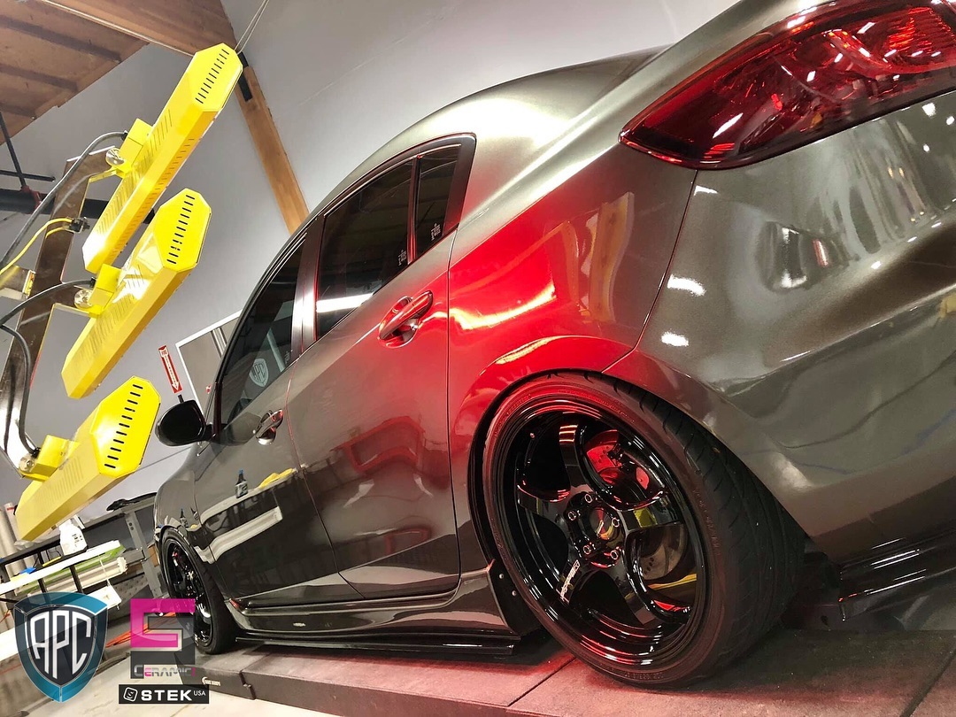 Our short wave systems Model SR-6000 helped this Mazda 3 get a full paint protection, clear bra, and Ceramic Pro coating.