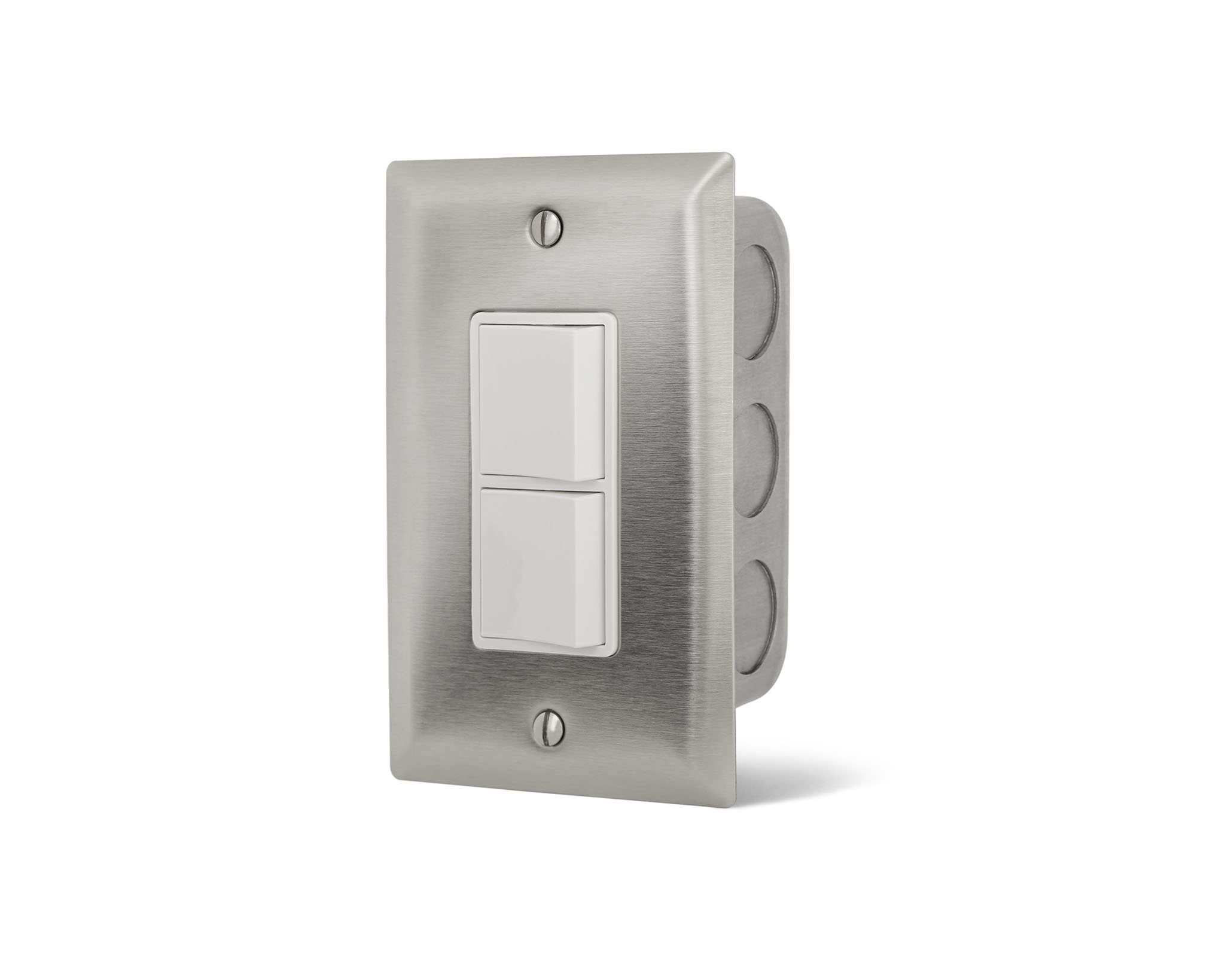 infrared electric heater value controls duplex stack switches in wall for indoor or protected outdoor areas