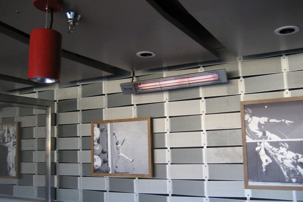 Wall mounted SL-Series heaters installed at the Minnesota Twins Stadium.