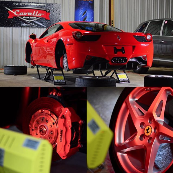 This Ferrari 458 and its wheels curing with our Speed Ray 2 short wave system.