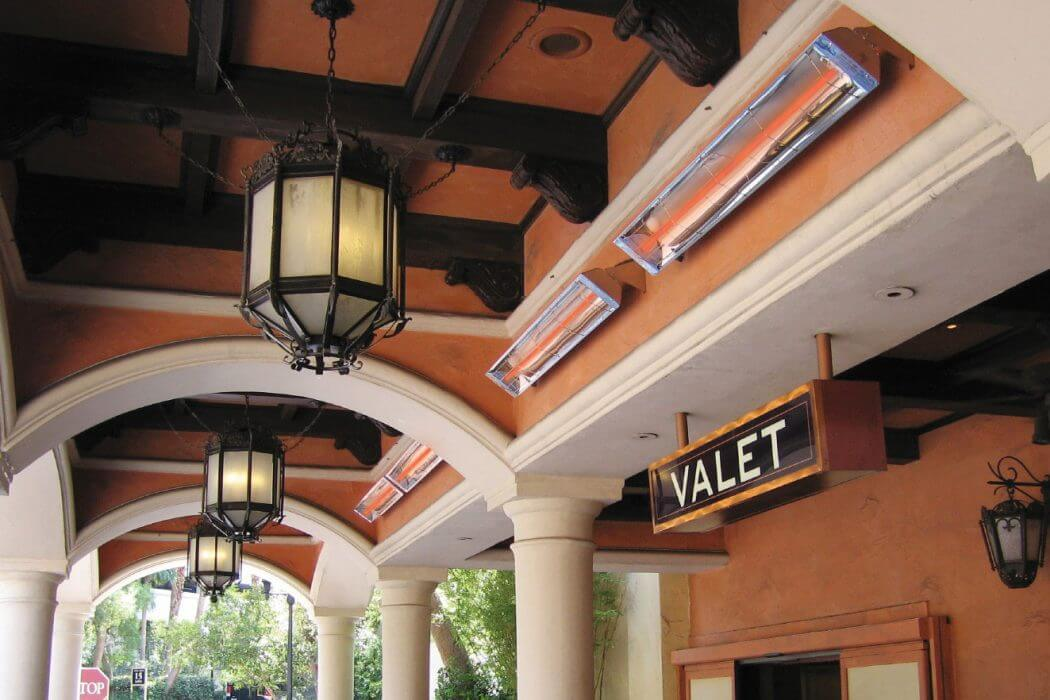Infratech's W-Series wall mounted heaters can increase guest comfort and experience while waiting outside at valet.